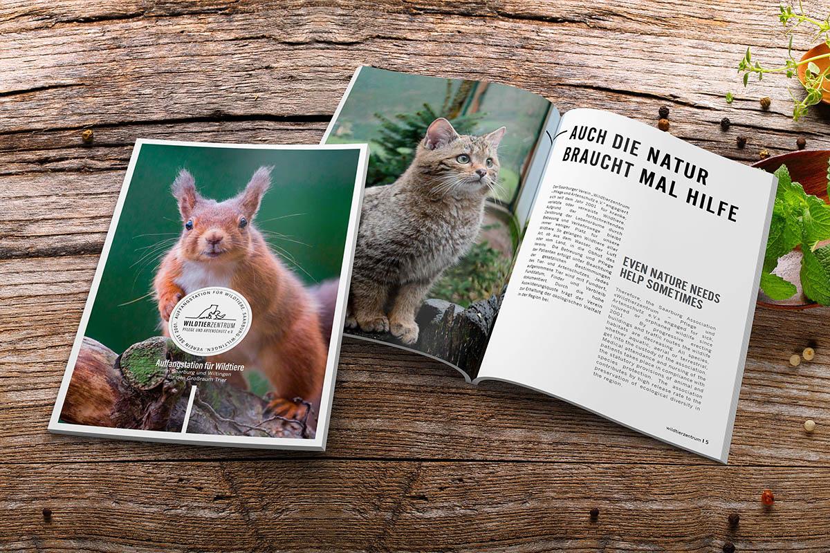 Broschüre Wildtierzentrum